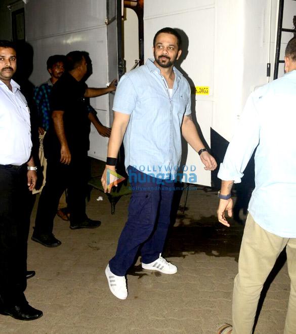 रोहित शेट्टी रणवीर सिंह से मुलाकात करने के दौरान आए नजर