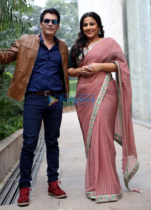 विद्या बालन और मानव कौल नई दिल्ली में 'तुम्हारी सुलु' को प्रमोट करते हुए