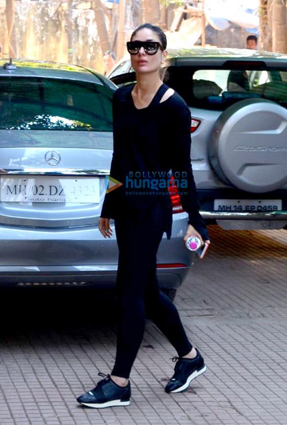 बांद्रा में जिम के बाहर नजर आईं करीना कपूर खान