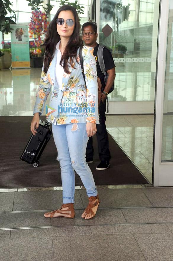 रणबीर कपूर, करण जौहर, शाहिद कपूर, दीया मिर्जा और अन्य हवाईअड्डे पर आए नजर