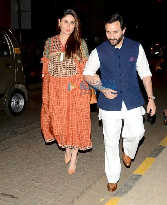 सैफ अली खान और करीना कपूर खान बांद्रा में आए नजर