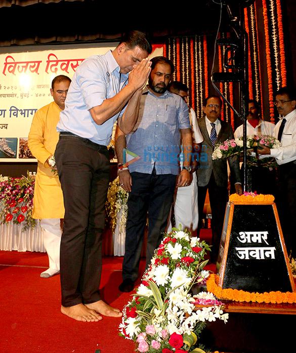 अक्षय कुमार ने मुंबई में कारगिल विजय दिवस कार्यक्रम की शोभा बढ़ाई
