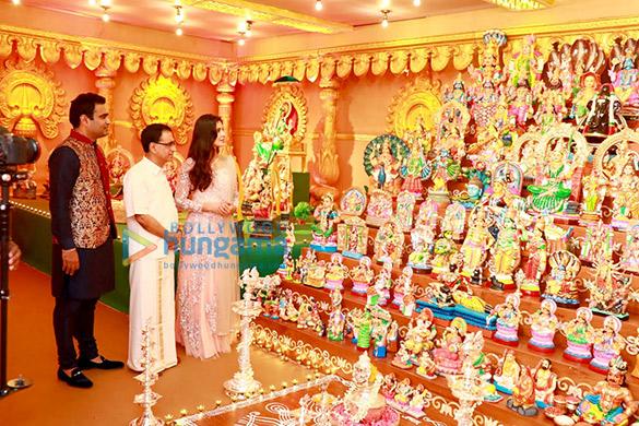 कल्याण जौहरी द्वारा आयोजित नवरात्रि समारोह में कैटरीना कैफ और मामूट्टी