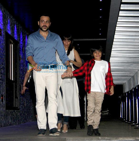 इमरान हाशमी ने हक्क्सन में अपने बेटे और पत्नी के साथ आए नजर