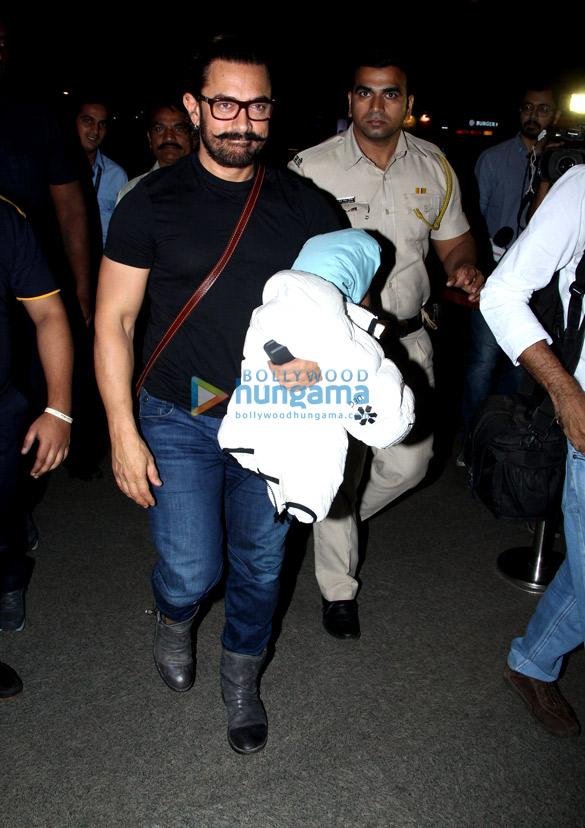 आमिर खान, रानी मुखर्जी और अन्य हवाई अड्डे पर आए नजर