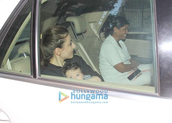 सोहा अली खान अपनी बेटी इनाया के साथ करीना कपूर खान के घर पर आईं नजर