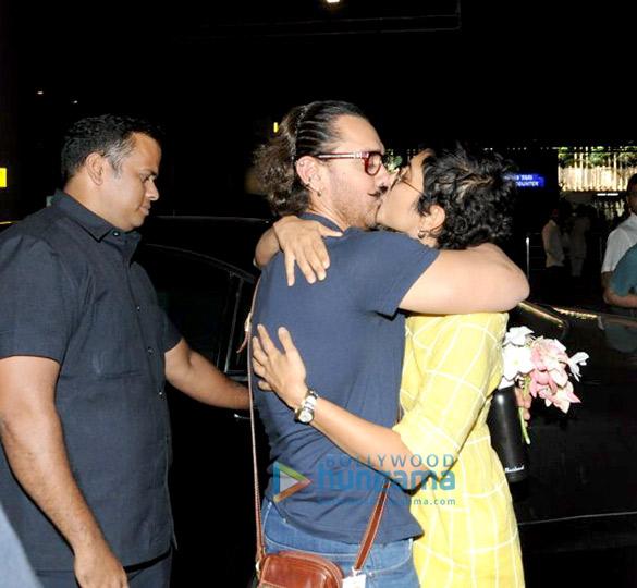 आमिर खान जोधपुर से लौटे और किरण राव उन्हें लेने पहुंची