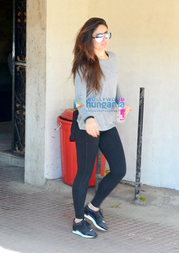 बांद्रा जिम में नजर आई करीना कपूर खान