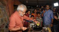 Photos: संजय मिश्रा और हार्दिक मेहता गोरेगांव की ऑमलेट पाव स्टॉल पर नजर आए