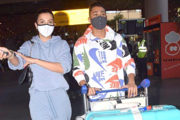 Spotted – गौहर खान और जैद दरबार एयरपोर्ट पर स्पॉट हुए