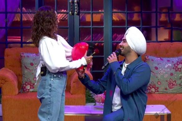 नेहा कक्कड़ और रोहनप्रीत सिंह द कपिल शर्मा शो में पहुंचे