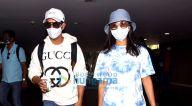 Photos: राजकुमार राव और पत्रलेखा एयरपोर्ट पर नजर आए