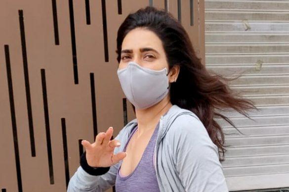 करिश्मा तन्ना लक्ष्मी इंडस्ट्रीयल इस्टेट, अंधेरी में जिम के बाहर स्पॉट हुईं