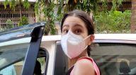 Photos: सारा अली खान सांताक्रूज के एक जिम में नजर आईं