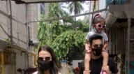 Photos: नेहा धूपिया और अंगद बेदी सांताक्रूज में फूडहॉल के बाहर नजर आए